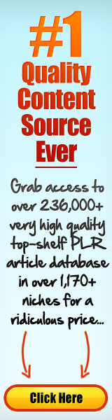 PLR Articles Database - Big Content Goldmine
